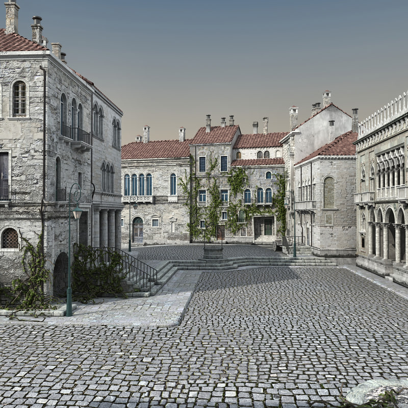 3D old town