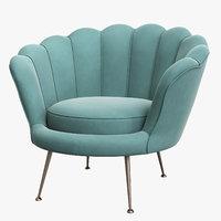 3D model chair trapezium