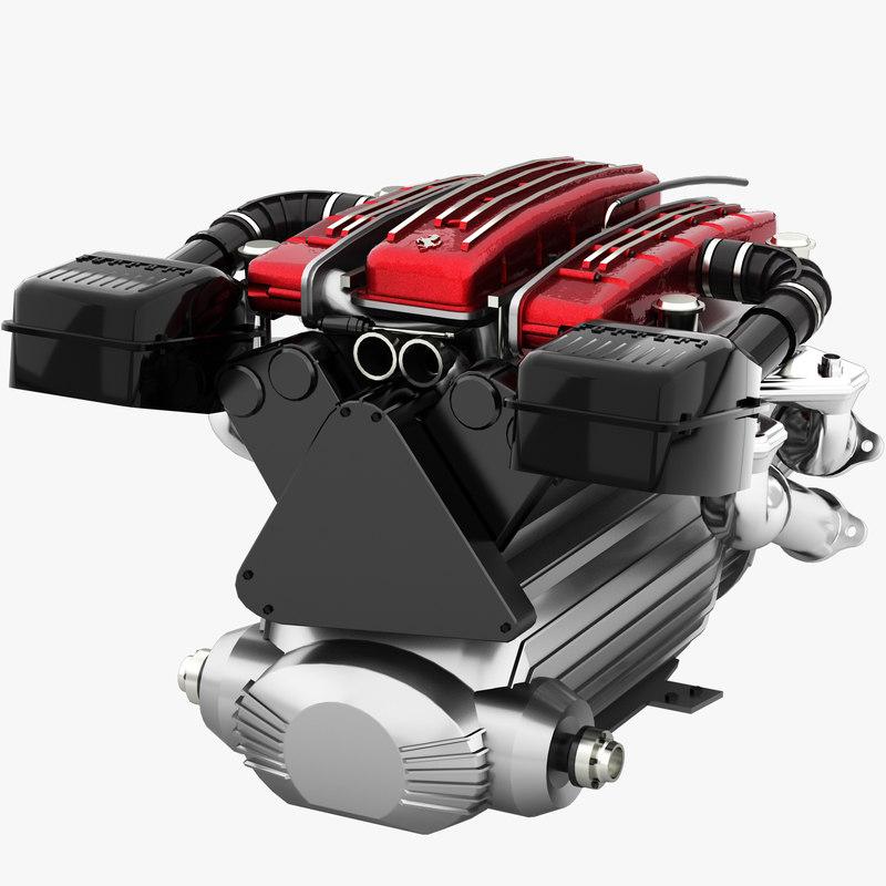 v12 engine tipo f116 3D model