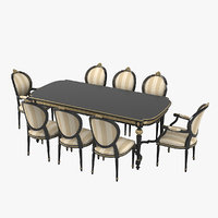 3D angelo cappellini cezanne dining table model