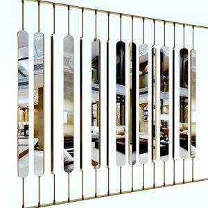 3D model decorative partition 2