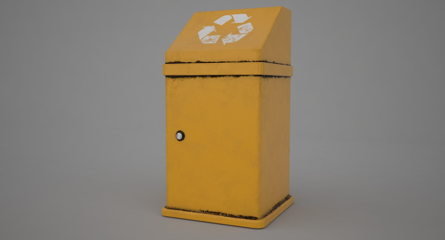 garbage contains 3D model