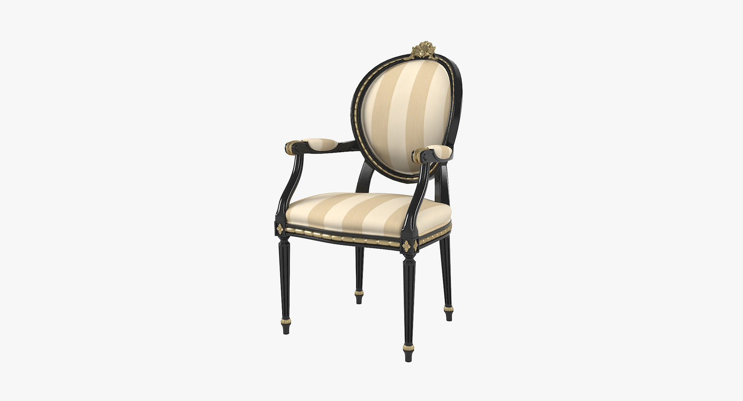 angelo cappellini cezanne dining chair 3D model