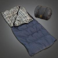 Sleeping Bag 02 (Camping)- PBR Game Ready