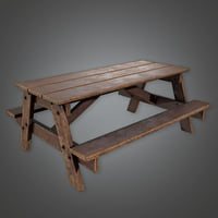 Picnic Table (Camping) - PBR Game Ready