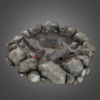 Camp Fire Pit (Camping) - PBR Game Ready