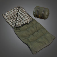 Sleeping Bag 01 (Camping) - PBR Game Ready