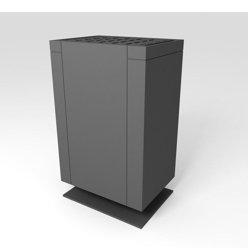 3D model mythos black eos sauna