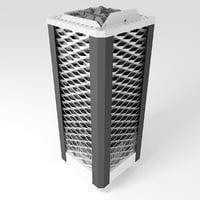 eos saunadome ii sauna 3D model