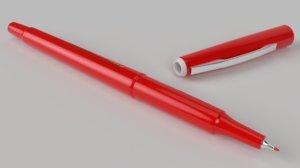 pilot fineliner pen 3D model