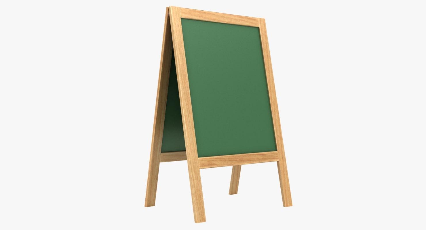3D model chalkboard 02