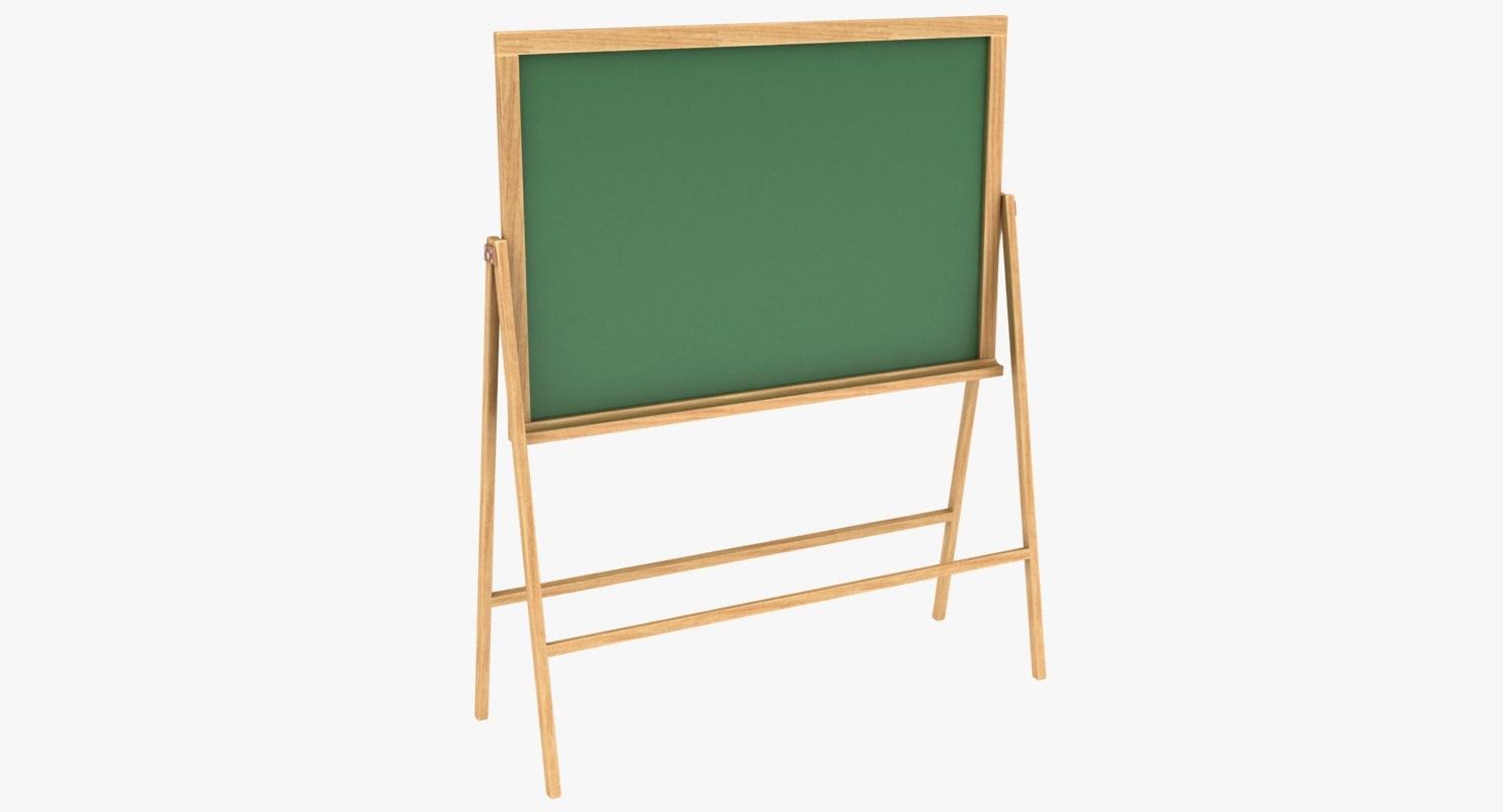 3D model chalkboard scanline