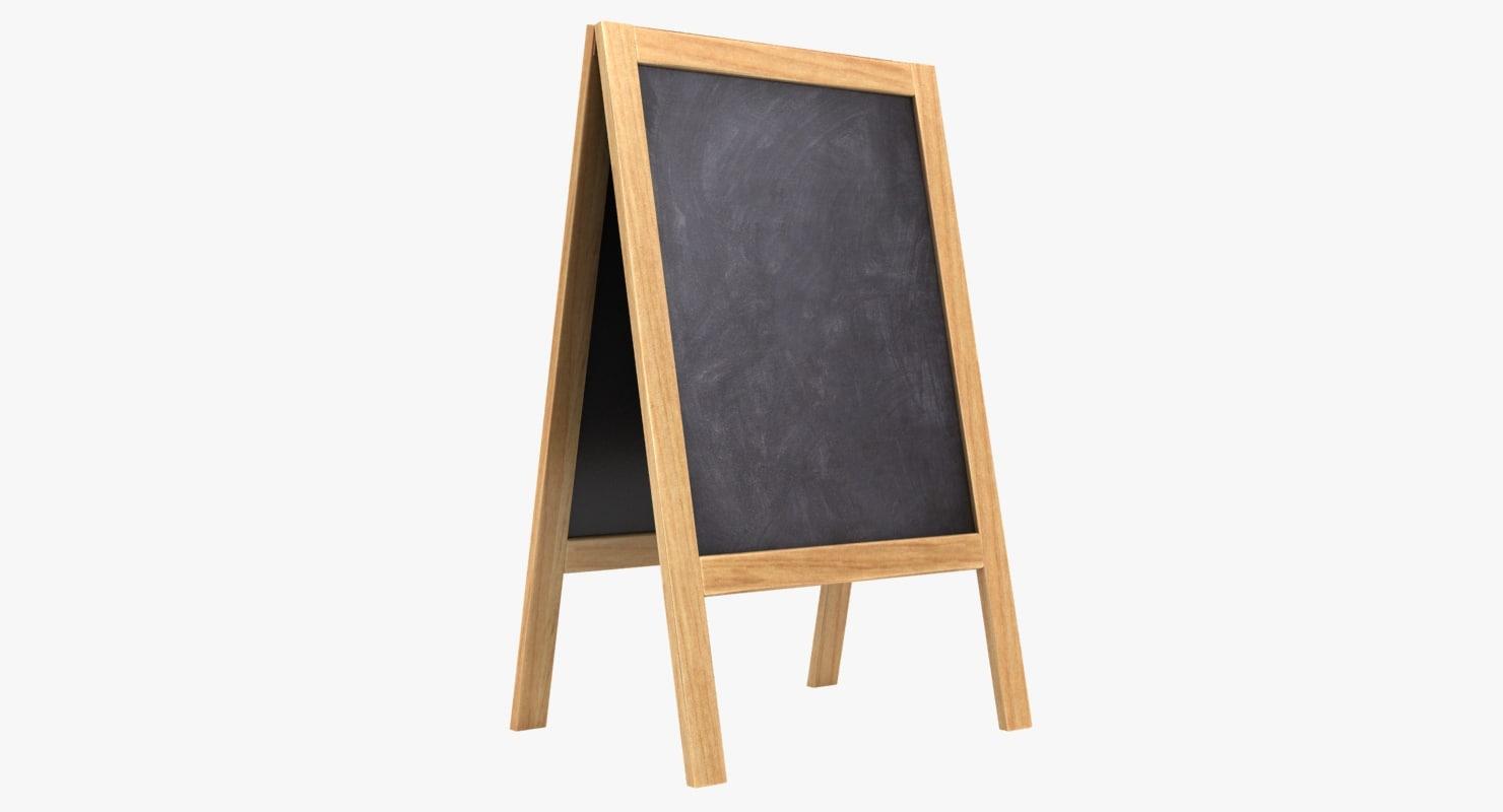 3D model chalkboard 02 color 2