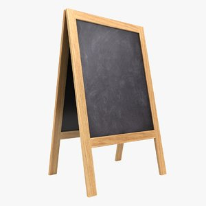 3D model chalkboard 02 color 2