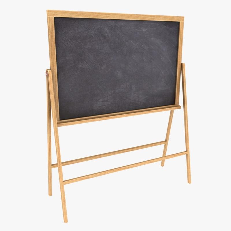 3D chalkboard color 2 model