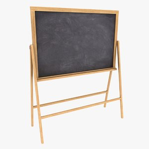 3D chalkboard color 2 model