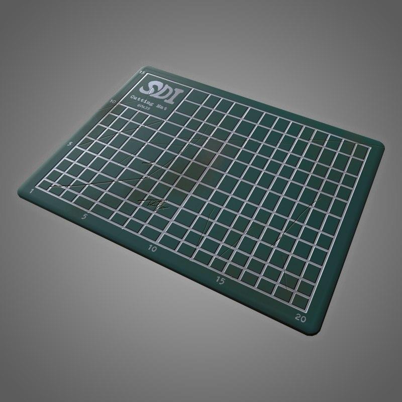 cutting mat - pbr 3D model