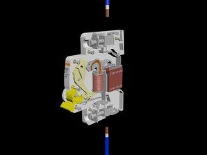 mcb - miniature circuit 3D model
