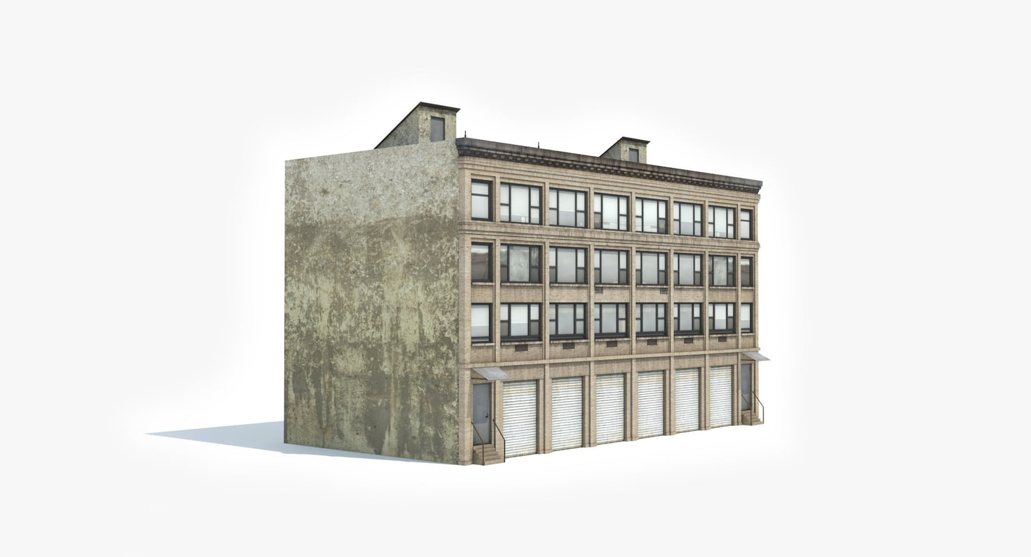 3D model ready industrial building 1