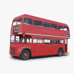 3D london routemaster bus model