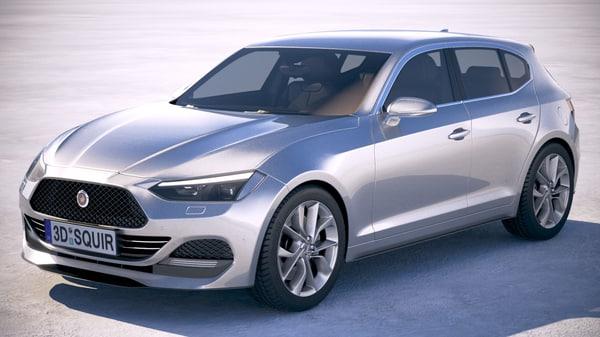 generic hatchback 2018 3D model