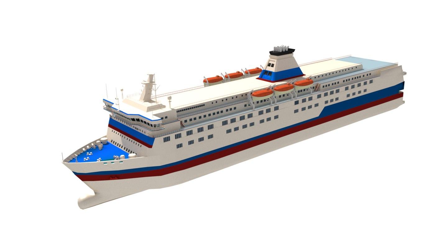 roro passenger ferry 3D model