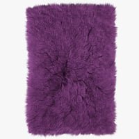 3D wool shaggy fur rectangle model