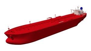 vlcc class oil tanker model