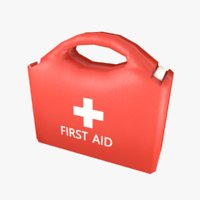 First Aid Kit Plastic Red 2