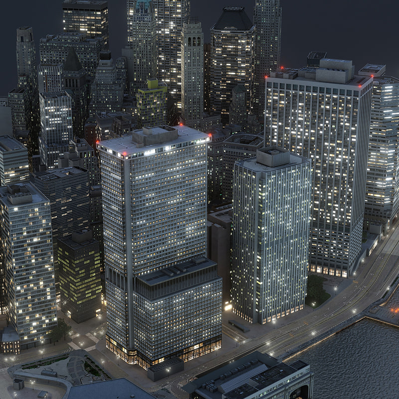 3D manhattan lower part02 night
