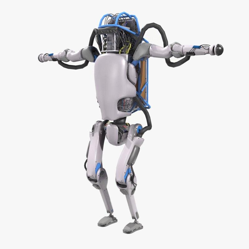 atlas robot boston dynamics 3D model