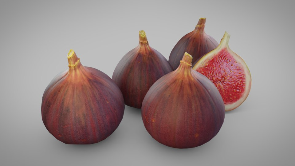 3D red figs model