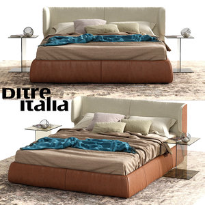 ditre italia claire bed 3D model