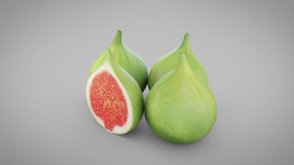 green figs 3D model