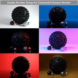 octane render studio setup 3D