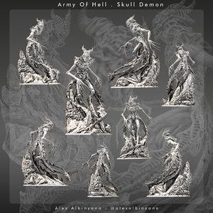 - skull demon print 3D model