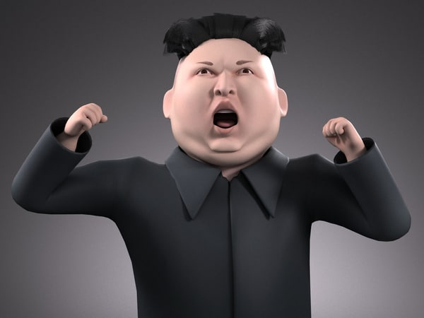 kim dzong cartoon 3D model