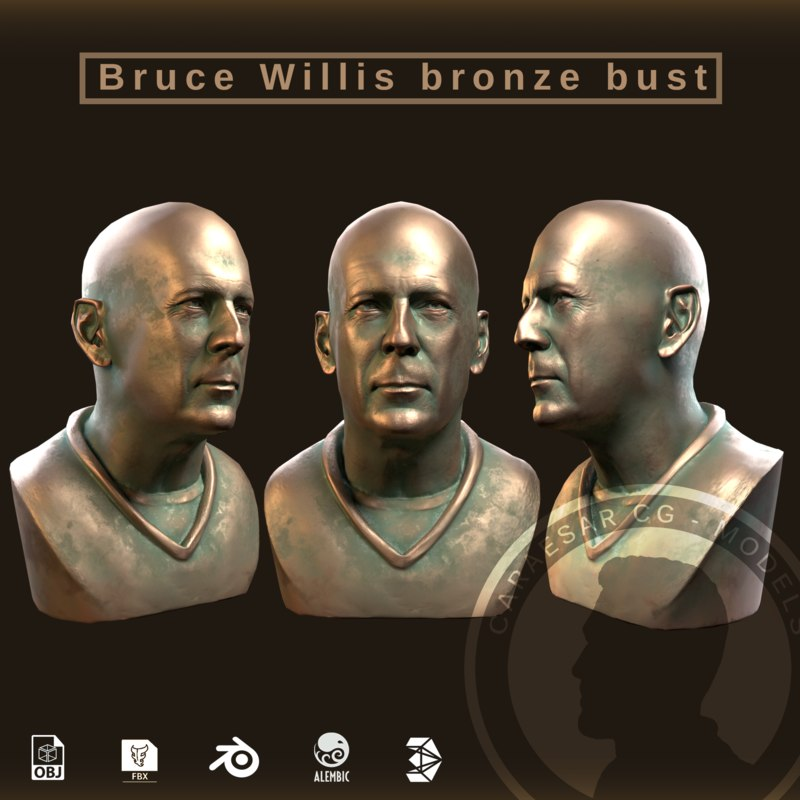 3D model bruce willis