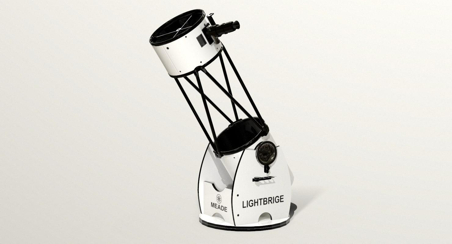 3D meade lightbridge 12 telescope