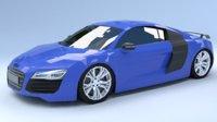 Audi R8 Low Poly
