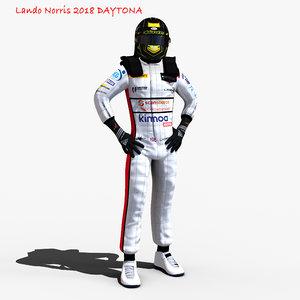 3D norris 2018 daytona model