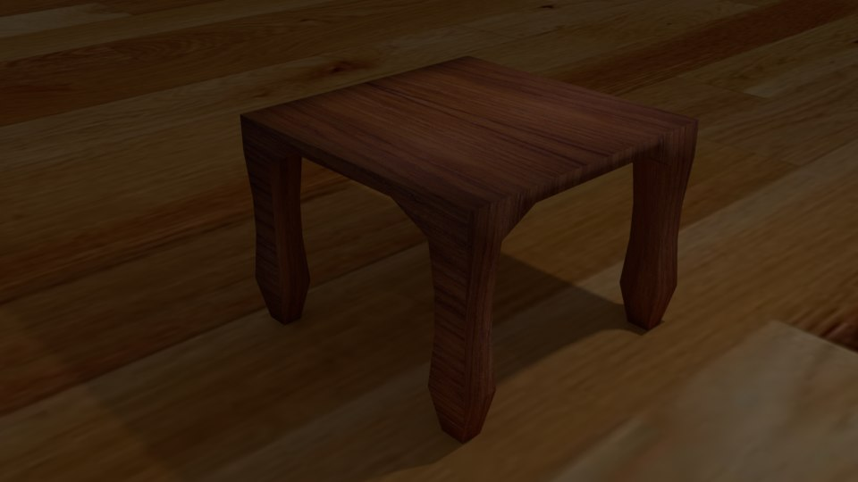 3D simple table