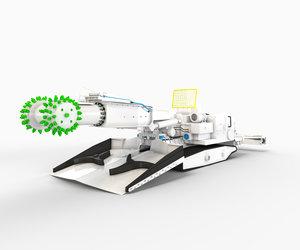 continuous miner 3D model