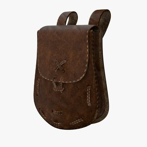 leather pouch model