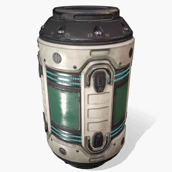 sci fi barrel 3D