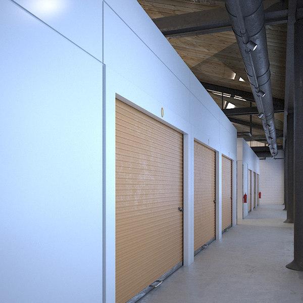 3D indoor storage units