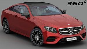 3D model mercedes e-class coupe 2018