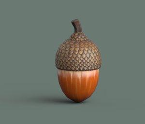 3D acorn model