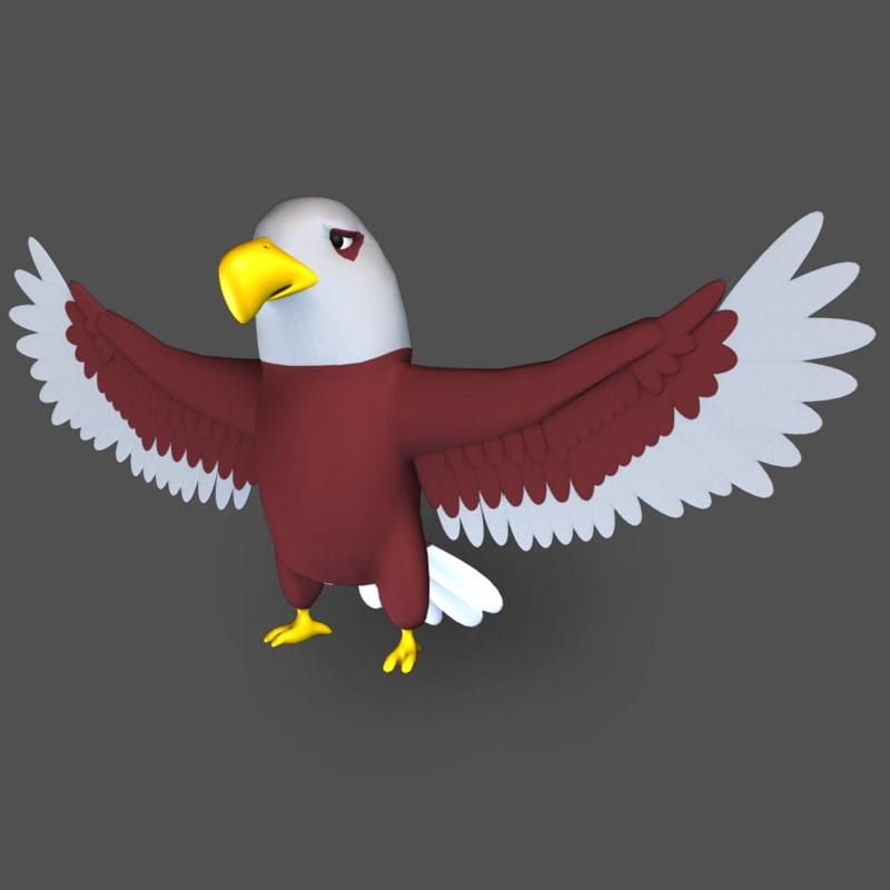 cartoon eagle 3D model