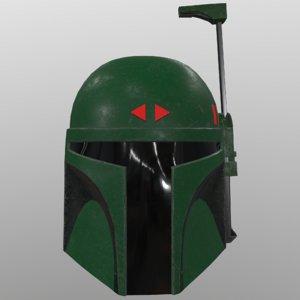 3D boba fetts helmet
